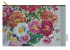 Floral Still Life Carry-all Pouch by Alexandra Maria Ethlyn Cheshire