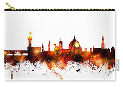 Florence Italy Skyline Carry-all Pouch by Michael Tompsett