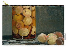Jar Of Peaches Carry-all Pouch by Claude Monet