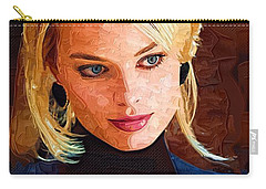 Margot Robbie Painting Carry-all Pouch by Best Actors