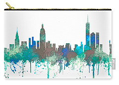 Carry-all Pouch featuring the digital art New York Ny Skyline by Marlene Watson