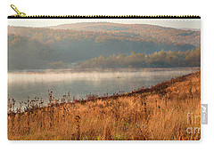 Carry-all Pouch featuring the photograph One Autumn Day At Ognyanovo Dam by Jivko Nakev