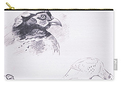 Pheasants Carry-all Pouch by Archibald Thorburn