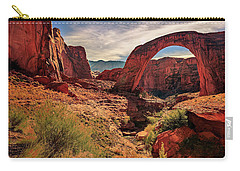 Carry-all Pouch featuring the photograph Rainbow Bridge Monument by Peter Lakomy