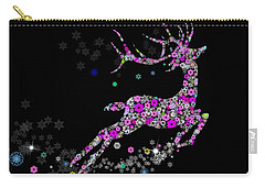 Reindeer Design By Snowflakes Carry-all Pouch