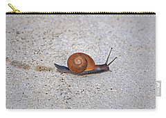 Carry-all Pouch featuring the photograph 6- Snail by Joseph Keane