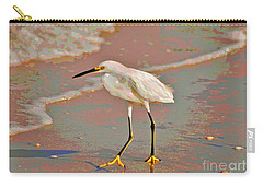 Carry-all Pouch featuring the photograph 6- Snowy Egret by Joseph Keane