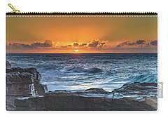 Sunrise Seascape With Sun Carry-all Pouch