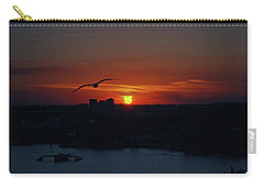 Carry-all Pouch featuring the photograph 6- Sunset by Joseph Keane