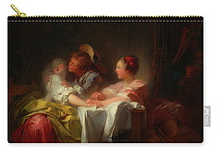 Carry-all Pouch featuring the painting The Stolen Kiss by Jean-Honore Fragonard
