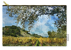 Vineyard In Napa Valley California Carry-all Pouch