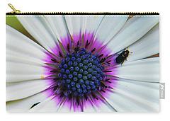 Carry-all Pouch featuring the photograph White Flower by Elvira Ladocki