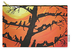60 Cats In The Love Tree Carry-all Pouch by Jeffrey Koss