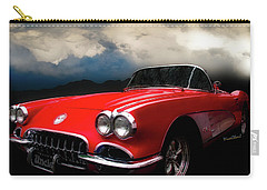 60 Corvette Roadster In Red Carry-all Pouch