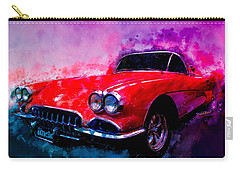 60 Red Corvette Watercolour Illustration Carry-all Pouch