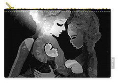 Carry-all Pouch featuring the digital art 826 - The Child by Irmgard Schoendorf Welch