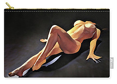 6550s-amg Watercolor Nude Woman Leg Up  Carry-all Pouch