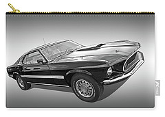 69 Mach1 In Black And White Carry-all Pouch