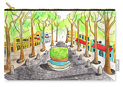 Cours Mirabeau With Trees And Fountain  Carry-all Pouch