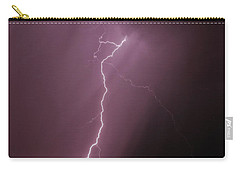 Carry-all Pouch featuring the photograph 7-17-16 Lighting Storms by Elaine Malott
