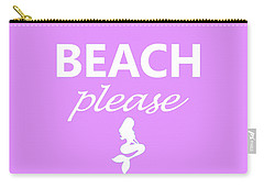 Beach Please Carry-all Pouch