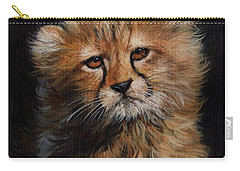 Cheetah Cub Carry-all Pouch by David Stribbling