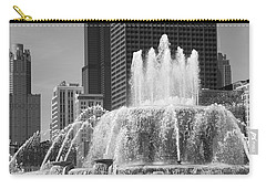 Chicago Skyline And Buckingham Fountain Carry-all Pouch by Frank Romeo