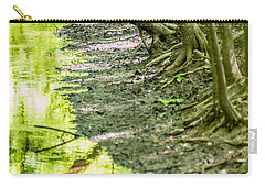 Carry-all Pouch featuring the photograph cypress forest and swamp of Congaree National Park in South Caro by Alex Grichenko