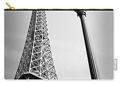 Carry-all Pouch featuring the photograph Eiffel Tower by Chevy Fleet
