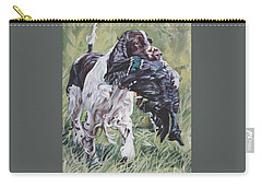 English Springer Spaniel Carry-all Pouch by Lee Ann Shepard