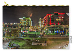 Carry-all Pouch featuring the photograph Greenville South Carolina Near Falls Park River Walk At Nigth. by Alex Grichenko