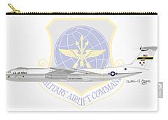 Carry-all Pouch featuring the digital art Lockheed C-141a Starlifter by Arthur Eggers