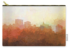 Carry-all Pouch featuring the digital art Oakland California Skyline by Marlene Watson