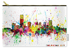 Carry-all Pouch featuring the digital art Oklahoma City Skyline by Michael Tompsett