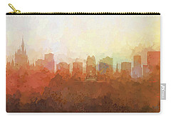 Carry-all Pouch featuring the digital art Orlando Florida Skyline by Marlene Watson