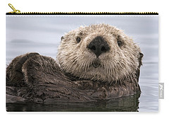 Sea Otter Elkhorn Slough Monterey Bay Carry-all Pouch by Sebastian Kennerknecht