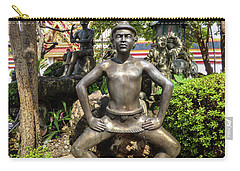 Thai Yoga Statue At Famous Wat Pho Temple Carry-all Pouch