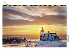 Carry-all Pouch featuring the photograph West Quoddy Head Lighthouse by Trace Kittrell
