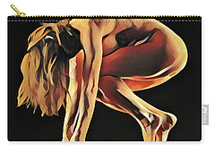 7188s-amg Nude Watercolor Of Sensual Mature Woman Carry-all Pouch