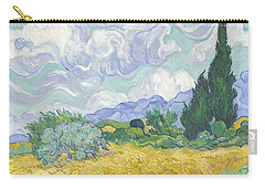A Wheat Field With Cypresses Carry-all Pouch