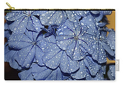 Blue Plumbago Carry-all Pouch by Elvira Ladocki