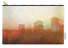 Carry-all Pouch featuring the digital art New Orleans Louisiana Skyline by Marlene Watson