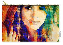 Nina Dobrev Carry-all Pouch by Svelby Art