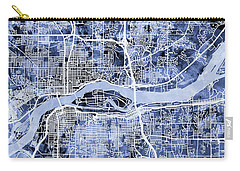 Quad Cities Street Map Carry-all Pouch