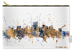 Carry-all Pouch featuring the digital art Richmond Virginia Skyline by Michael Tompsett