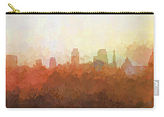 Carry-all Pouch featuring the digital art Sacramento California Skyline by Marlene Watson