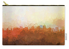 Carry-all Pouch featuring the digital art San Diego California Skyline by Marlene Watson