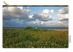 Carry-all Pouch featuring the photograph 8- Sunflowers In Paradise by Joseph Keane
