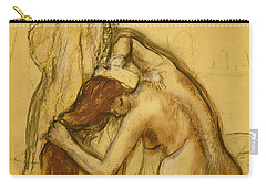 Woman Drying Herself Carry-all Pouch by Edgar Degas