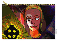 Carry-all Pouch featuring the digital art 863 - A Celtic Cross by Irmgard Schoendorf Welch
